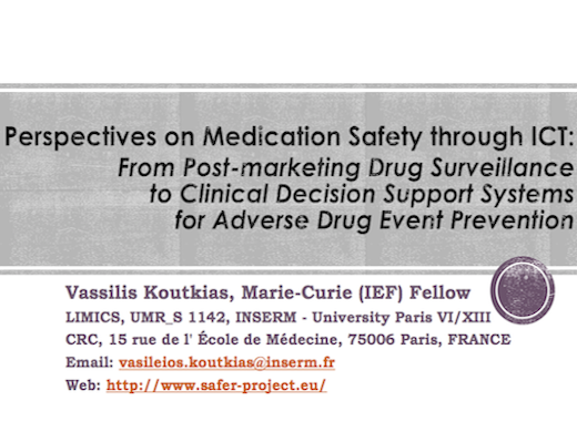 SAFER presented at LIMICS 2014
